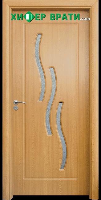Интериорна врата модел 014, цвят Светъл дъб