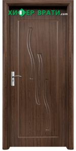 Интериорна врата модел 014-P, цвят Орех