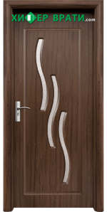 Интериорна врата модел 014, цвят Орех