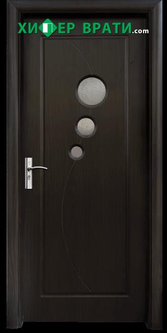 Интериорна врата модел 017, цвят Венге