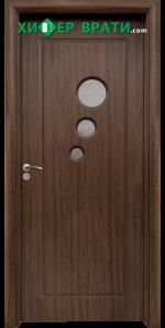Интериорна врата модел 017, цвят Орех