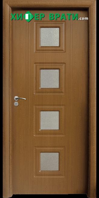 Интериорна врата модел 021, цвят Златен дъб
