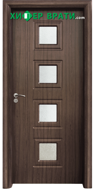 Интериорна врата модел 021, цвят Орех