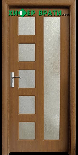 Интериорна врата модел 048, цвят Златен дъб