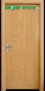 Интериорна врата модел 048-P, цвят Светъл дъб