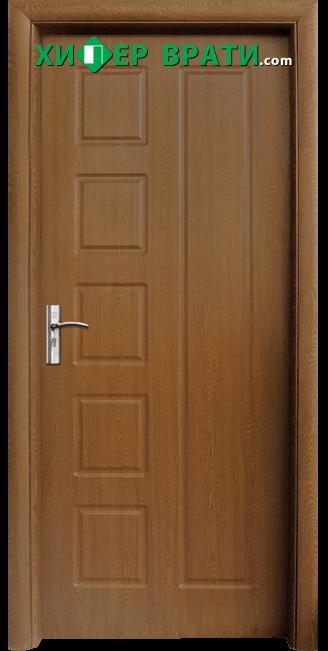 Интериорна врата модел 048-P, цвят Златен дъб