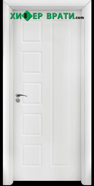 Интериорна врата модел 048-P, цвят Бял