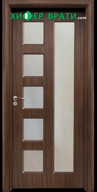 Интериорна врата модел 048, цвят Орех
