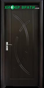 Интериорна врата модел 056-P, цвят Венге