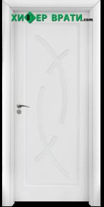 Интериорна врата модел 056-P, цвят Бял