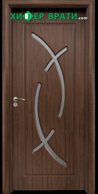 Интериорна врата модел 056, цвят Орех