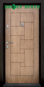Блиндирана входна врата модел Т-100, цвят Антик