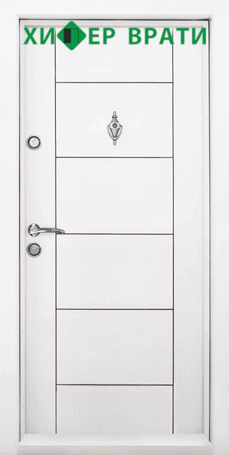 Блиндирана входна врата модел Т-102, цвят Бял