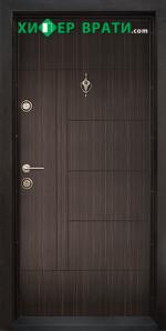 Блиндирана входна врата модел Т-587, цвят Абанос