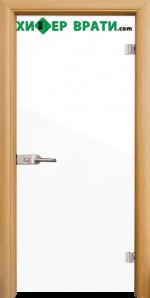 Стъклена интериорна врата модел Folio G 15-1, каса Светъл дъб
