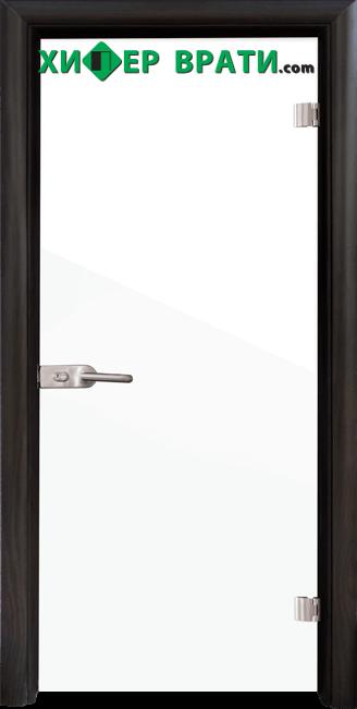 Стъклена интериорна врата модел Folio G 15-1, каса Венге