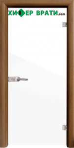 Стъклена интериорна врата модел Folio G 15-1, каса Златен дъб