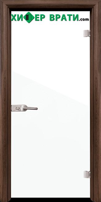 Стъклена интериорна врата модел Folio G 15-1, каса Орех