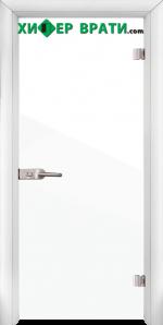 Стъклена интериорна врата модел Folio G 15-1, каса Бяла