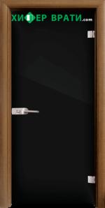 Стъклена интериорна врата модел Folio G 15-2, каса Златен дъб