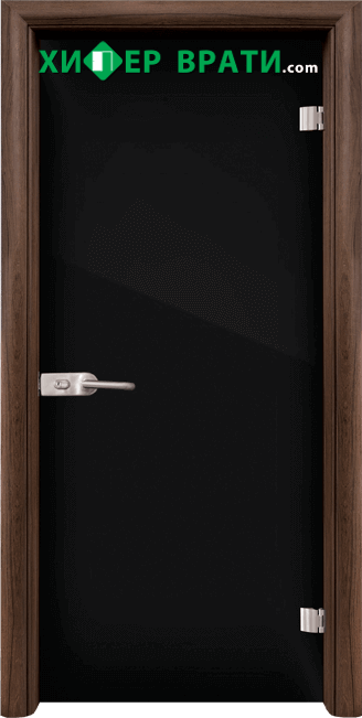 Стъклена интериорна врата модел Folio G 15-2, каса Орех