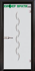 Стъклена интериорна врата модел Gravur G 13-1, каса Венге