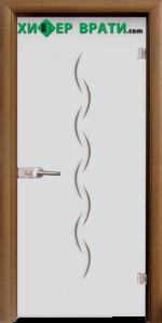 Стъклена интериорна врата модел Sand G 13-1, каса Златен дъб