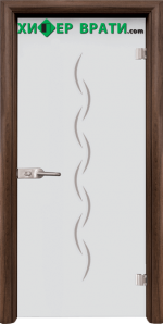 Стъклена интериорна врата модел Sand G 13-1, каса Орех