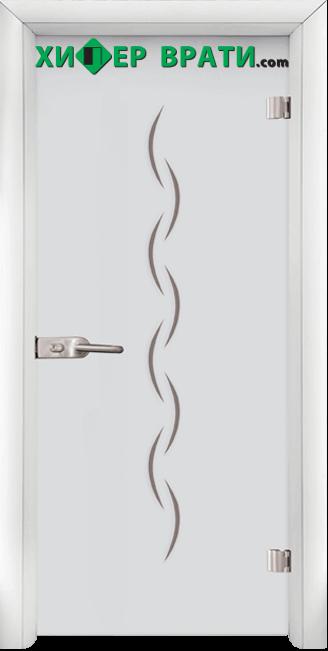 Стъклена интериорна врата модел Sand G 13-1, каса Бяла