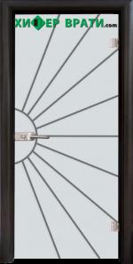 Стъклена интериорна врата модел Gravur G 13-2, каса Венге