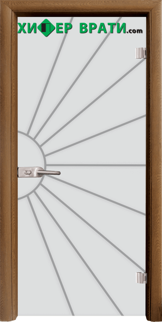 Стъклена интериорна врата модел Sand G 13-2, каса Златен дъб