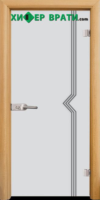 Стъклена интериорна врата модел Sand G 13-3, каса Светъл дъб