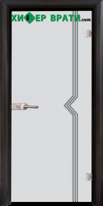 Стъклена интериорна врата модел Gravur G 13-3, каса Венге