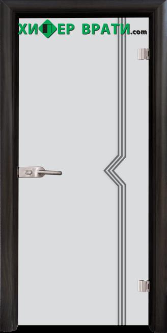 Стъклена интериорна врата модел Sand G 13-3, каса Венге
