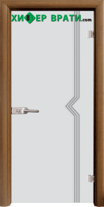 Стъклена интериорна врата модел Sand G 13-3, каса Златен дъб