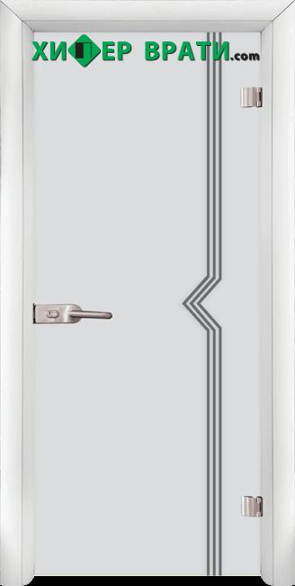 Стъклена интериорна врата модел Sand G 13-3, каса Бяла