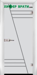 Стъклена интериорна врата модел Sand G 13-4, каса Бяла