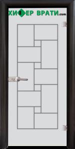 Стъклена интериорна врата модел Gravur G 13-7, каса Венге