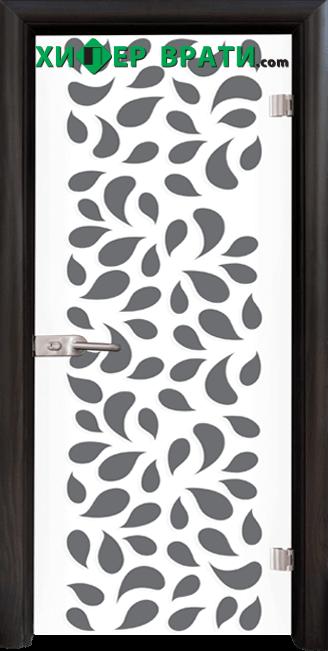 Стъклена интериорна врата модел Print G 13-1, каса Венге