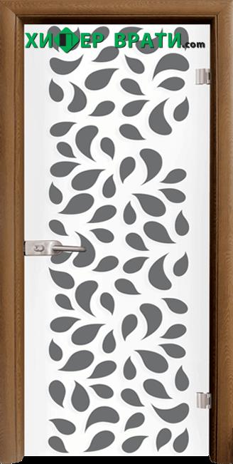 Стъклена интериорна врата модел Print G 13-1, каса Златен дъб