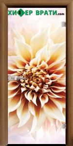 Стъклена интериорна врата модел Print G 13-5, каса Златен дъб