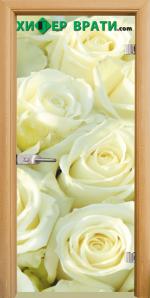 Стъклена интериорна врата модел Print G 13-6, каса Светъл дъб