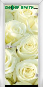 Стъклена интериорна врата модел Print G 13-6, каса Бяла