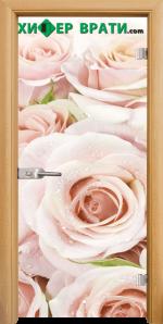 Стъклена интериорна врата модел Print G 13-7, каса Светъл дъб