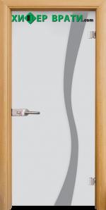 Стъклена интериорна врата модел Sand G 14-1, каса Светъл дъб