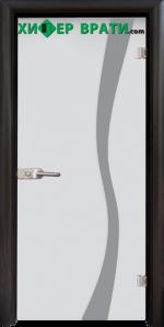 Стъклена интериорна врата модел Sand G 14-1, каса Венге