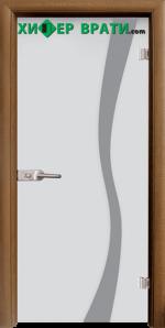 Стъклена интериорна врата модел Sand G 14-1, каса Златен дъб