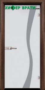 Стъклена интериорна врата модел Sand G 14-1, каса Орех