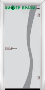Стъклена интериорна врата модел Sand G 14-1, каса Бяла