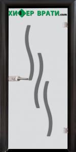 Стъклена интериорна врата модел Sand G 14-2, каса Венге